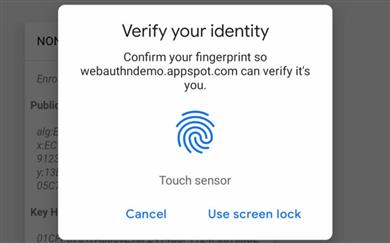 Chrome in biometrija